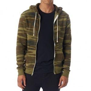 Printed Eco-Fleece Zip Hoodie